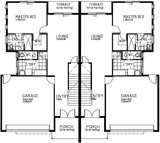 Two Story Duplex Floor Plans Thefloors Co